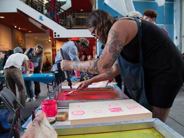 Printmaking Takeover with Little Giant Collective