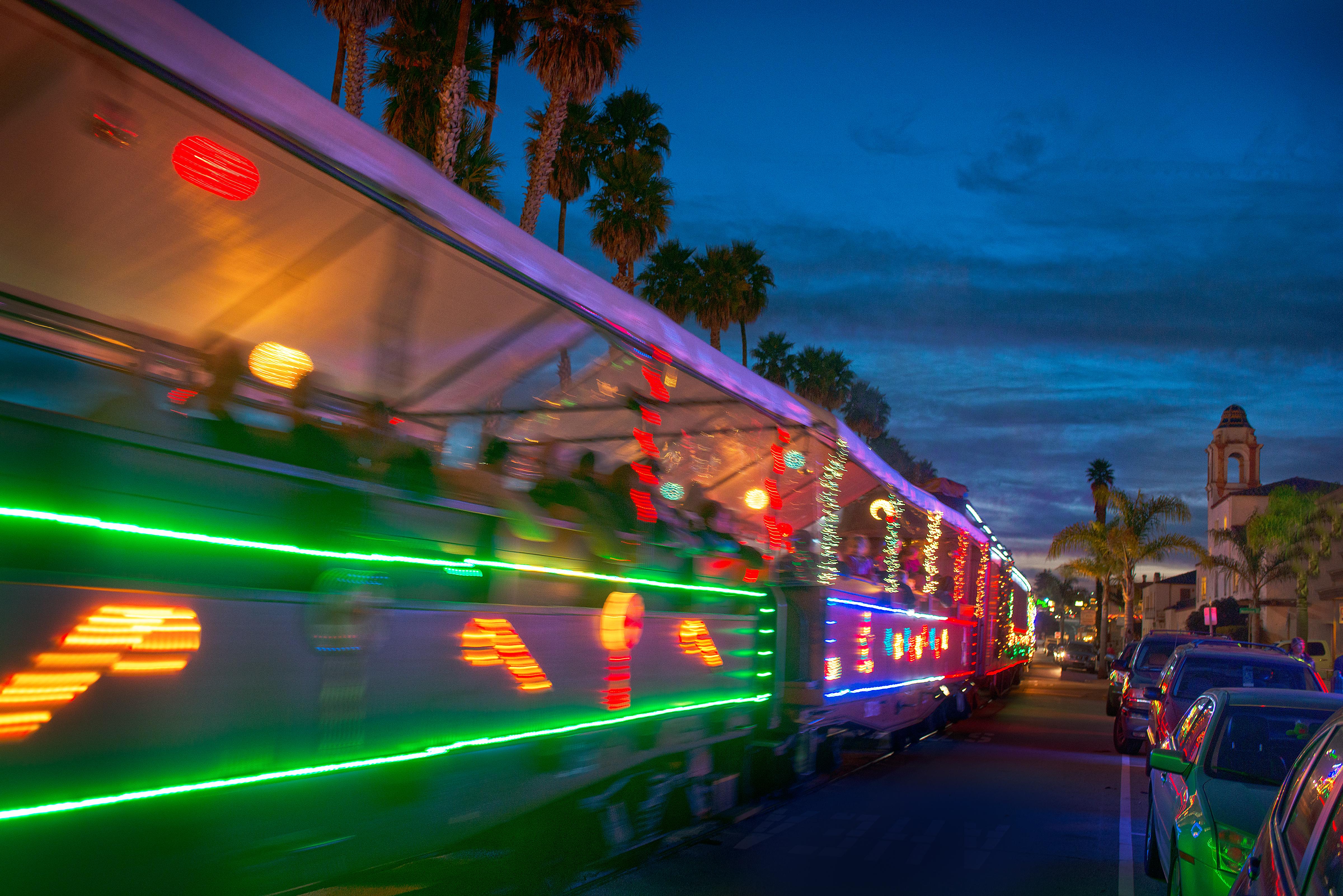 holiday lights train photo credit paul schraub santa cruz