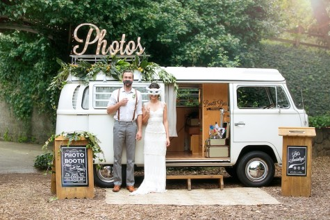 Strike a pose with The Booth Bus. Photo by Julie Cahill and coordinated by E Events Co.