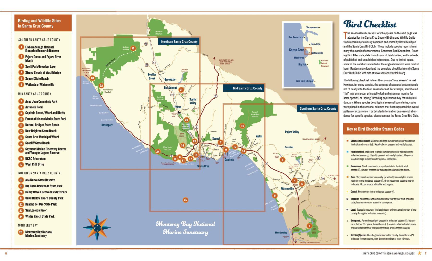 Birding Guide 2016 map