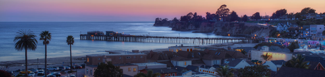 capitola-village-sunset