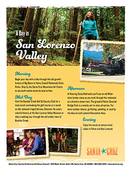 San Lorenzo Valley Itinerary