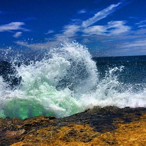 Power of Nature #sea #cliff #horizon #sky #clouds #nature #beauty #santacruz #california