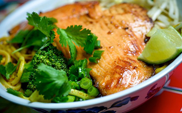 Salmon on Chaing Mai Noodles