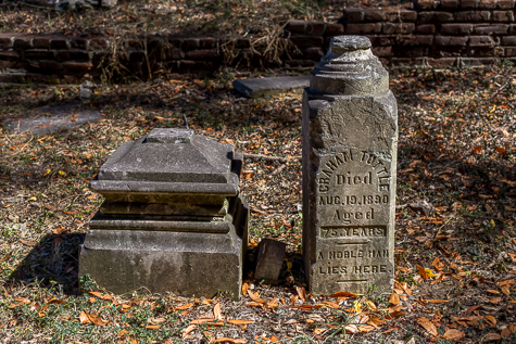 Historic Tombstone at Evergreen Cemetery