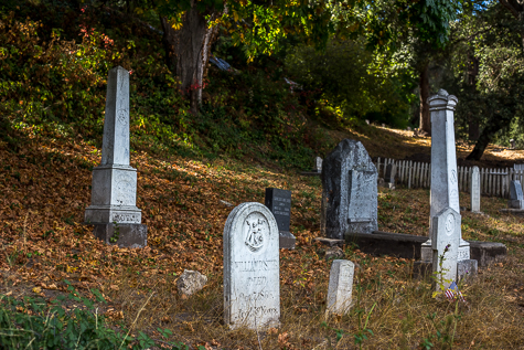Tombstones at Evergreen Cemetery