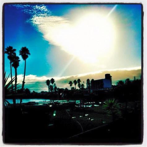 Heart in the clouds - view from Beach Street Inn & Suites by Facebook fan, Leonor Villanueva