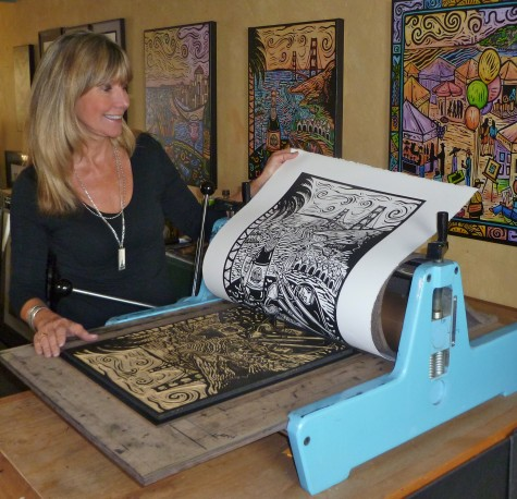 The artist and her press