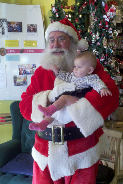 Baby's first visit with Santa 2011