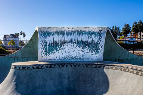 Wave at Ken Wormhoudt Skate Park