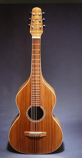 Weissenborn-style guitar by Tony Graziano, one of twenty luthiers to be featured in the Santa Cruz County Art of Guitar Exhibit and Festival.