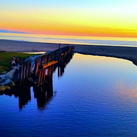 Beautiful reflections at Rio Del Mar State Beach