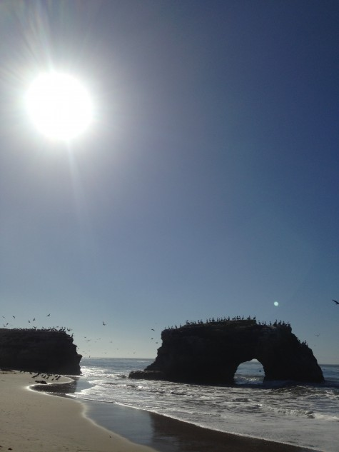 We're sure the views at Natural Bridges State Beach aren't bad either.